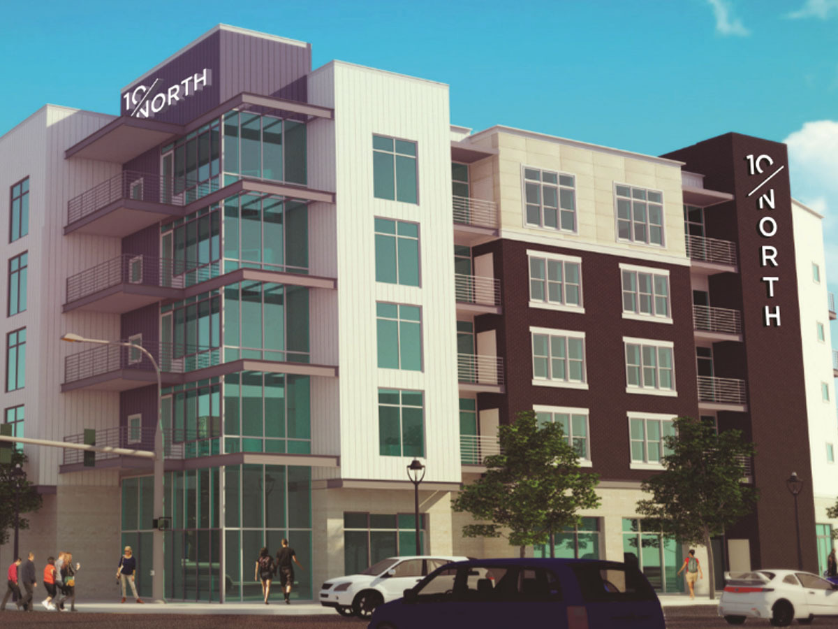 Vision Opens 10/North Apartments in Chattanooga's NorthShore Commercial District